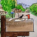 Bird On The Mailbox Sketchbook Project Down My Street by Irina Sztukowski