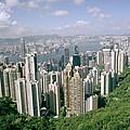 Birds Eye View Over Hong Kong by Shaun Higson
