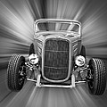 Black And White 32 Ford by Steve McKinzie