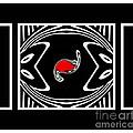 Minimalism Black White Red Abstract Art No.171. by Drinka Mercep