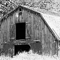 Black And White Barn by Barbara S Nickerson