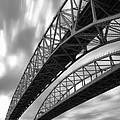 Black And White Blue Water Bridge by Gordon Dean II