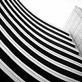 Black And White Building Curve Shape  by Kittipan Boonsopit