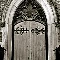 Black And White Doorway by Rosemary Legge