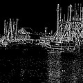 Black And White Fishing Boats by Tom Singleton