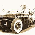 Black And White Hot Rod by Steve McKinzie