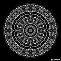 Black And White Mandala No. 3 by Joy McKenzie