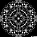 Black And White Mandala No. 4 by Joy McKenzie
