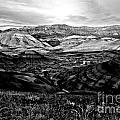 Black And White Painted Hills by Adam Jewell