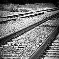 Black And White Railroad Tracks by Kimberly Perry
