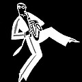 Black And White Saxophone by James Hill