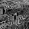 Black And White Seaside by Karen Elzinga