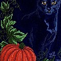 Black Cat Cross Stitch by Living Color Photography Lorraine Lynch