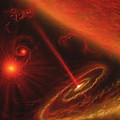 Black Hole & Red Giant Star by Julian Baum