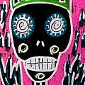 Black King Sugar Skull Angel by Sandra Silberzweig
