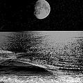 Black Night At The Shore by Ericamaxine Price