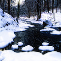 Black River Winter Scenic by George Oze