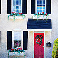 Black Window Shutters With Flowers by Paul Ward