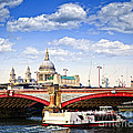 Blackfriars Bridge And St. Paul's Cathedral In London by Elena Elisseeva