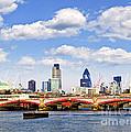 Blackfriars Bridge With London Skyline by Elena Elisseeva