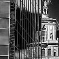 Blending Architecture Black And White by Phyllis Denton