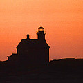 Block Island North West Lighthouse Sunset by Skip Willits