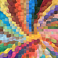 Blocks Of Color From A Pen And Ink Drawing by Carl Deaville