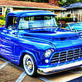 Blue 1956 Chevy Pickup by John Derby