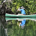 Blue Amongst The Greens - Canoeing On The St. Marks by Marilyn Holkham