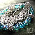 Blue And Silver Bead Bracelet by Debbie Portwood