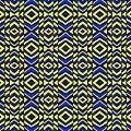 Blue And Yellow Chevron Pattern by Hakon Soreide