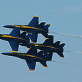 Blue Angels Diamond From Right by Samuel Sheats