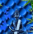 Blue Buddha by Sandra Beikirch