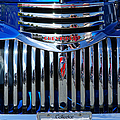 Blue Chevy Pick-up Grill by Randy Harris