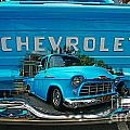 Blue Chevy Pickup Dbl. Exposure by Randy Harris
