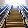 Blue Escalators by Mats Silvan