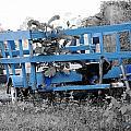 Blue Farm Wagon by Lynda Dawson-Youngclaus