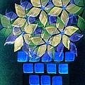Blue Flower Pot by Paula Ayers