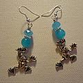 Blue Frog Earrings by Jenna Green