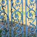 Blue Gate Swirls by Karen Wagner