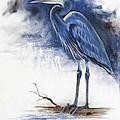 Blue Heron by Virgil Stephens