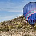 Blue Hot Air Balloon On The Desert  by James BO  Insogna