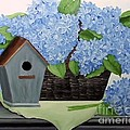Blue Hydrangea by Peggy Miller