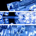 Blue Led Lights In Three Strips by Simon Bratt Photography LRPS
