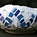 Blue Mosaic Bowl by Ghazel Rashid