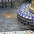 Blue Mosaic Fountain I by Bonnie Myszka