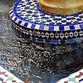 Blue Mosaic Fountain II by Bonnie Myszka