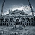 Blue Mosque Courtyard by Joan Carroll