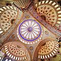Blue Mosque Domed Ceiling by Artur Bogacki