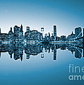 Blue New York City by Luciano Mortula